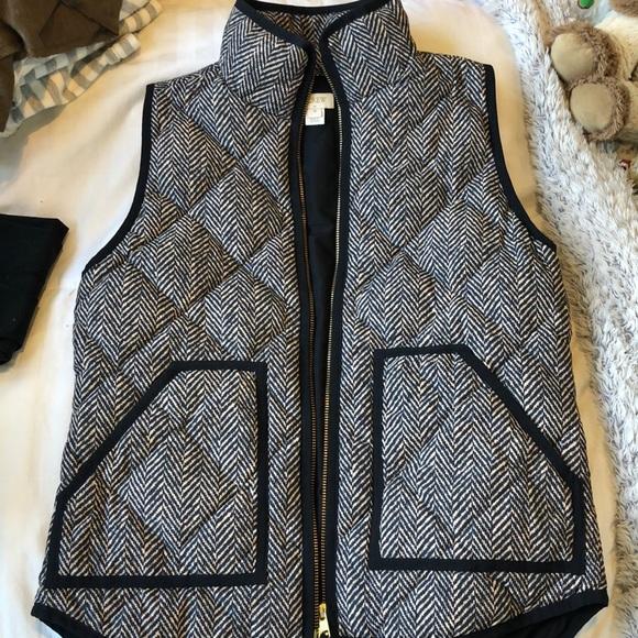 J. Crew Jackets & Blazers - J. Crew Herringbone Puffer Vest